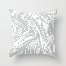 Marbled Gray Throw Pillow