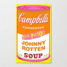 Johnny Rotten Sex Pistols Soup Canvas Print