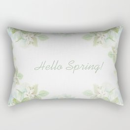 Spring floral watercolor painting & Quote Rectangular Pillow