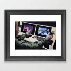 First Person Shooter Framed Art Print