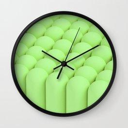 Green tubes Wall Clock