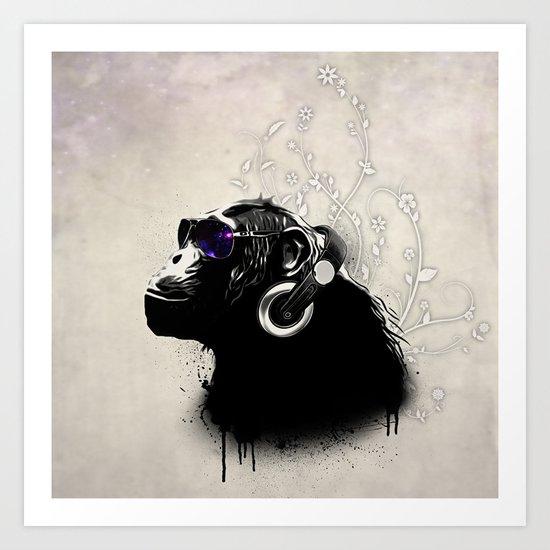 Monkey Tripping Art Print