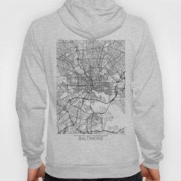 Baltimore Map White Hoody