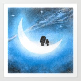 Love Moon Art Print