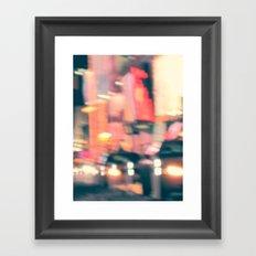 NY Lights Framed Art Print