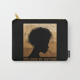 Vintage African Afro Melanin By Nature Back Women Carry-All Pouch