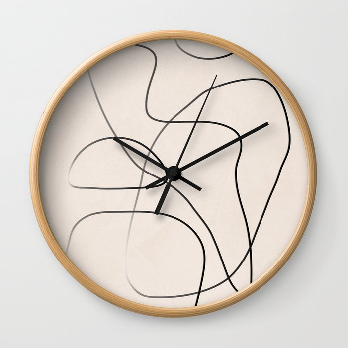Abstract Line I Wall Clock