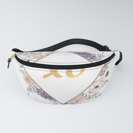 Lettering and Watercolor Flowers #3 Fanny Pack