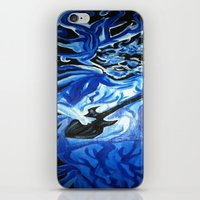 grateful dead iPhone & iPod Skins featuring Jerry Garcia Blues Acrylic Painting Grateful Dead by Acorn