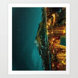 Crested Butte at Night Art Print