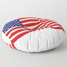 flag of the united states Floor Pillow