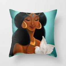 Her royal highness, the Sultana Jasmine Throw Pillow