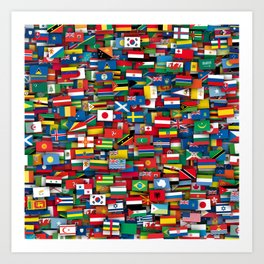 Flags of all countries of the world Art Print