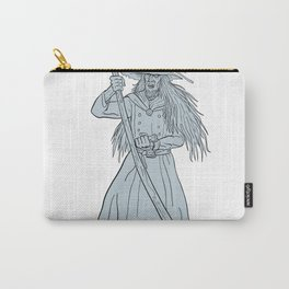 Ankou Henchman of Death With Scythe Drawing Carry-All Pouch
