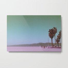 Venice Beach, Los Angeles - Cyclists Metal Print
