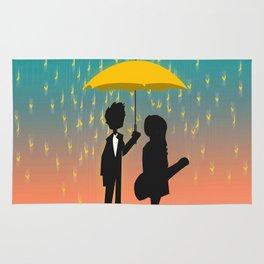Yellow Umbrella Rug