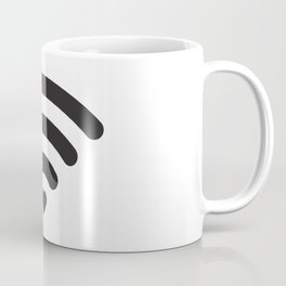 Love & WiFi - Black & White Coffee Mug