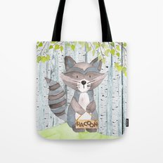 The adorable Racoon- Woodland Friends- Watercolor Illustration Tote Bag