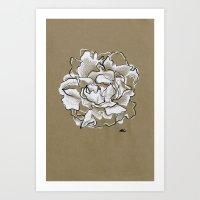 peony Art Prints featuring Peony by Mich Li
