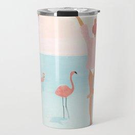Big Flamingo Travel Mug