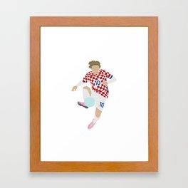 Luka Modric Croatia Print Framed Art Print