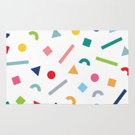 geometric funfetti Rug