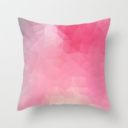 """Strawberry smoothie"" geometric design Throw Pillow"