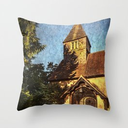 St Laurence Church Tidmarsh Throw Pillow