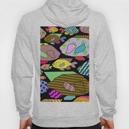 Geometric Fish - Abstract, retro design Hoody