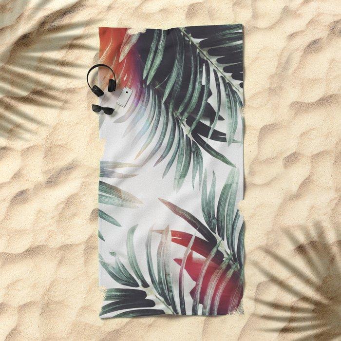 Vintage plants Beach Towel