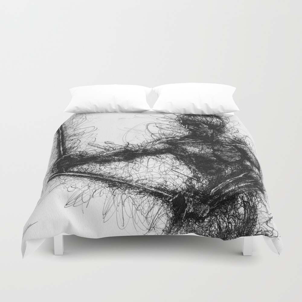 Bruce Kung Fu Master Lee, Drawing, Wall Art, Kung … Duvet Cover by Juliolucas DUV8502345
