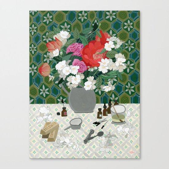 Making perfume Canvas Print