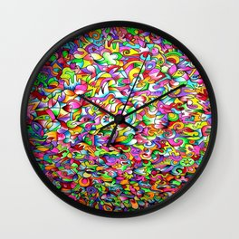 Abstract multicoloured pattern Wall Clock