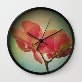 Vintage Spring Flowers Wall Clock