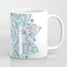 Mermaid Dreams Mandala on White Coffee Mug