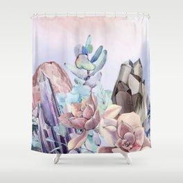 Gemstone Flower Shower Curtain