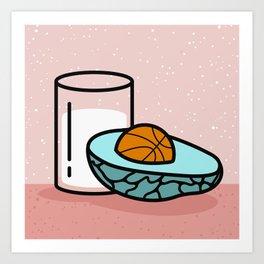 Avocado Slam Dunk  Art Print
