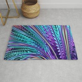 Jewel Rainbow Fractal Art Rug