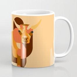 Bull Orange Coffee Mug