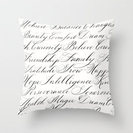 Inspirational Words II Throw Pillow