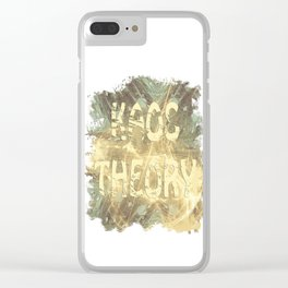 Kaos theory on sandy fractal Clear iPhone Case