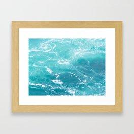 Turquoise Turbulence Framed Art Print
