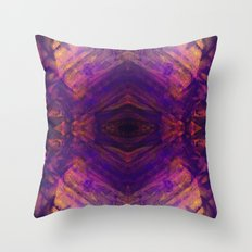 Purple and Orange Stripes Throw Pillow