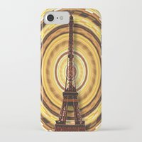 eiffel tower iPhone & iPod Cases featuring Eiffel Tower by Elena Indolfi