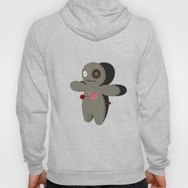 Voodoo doll. Cartoon horror elements. Spooky fear trick or treat Hoody
