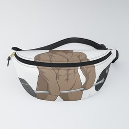 Bear Weightlifting Deadlift Fitness Gym Design  Fanny Pack