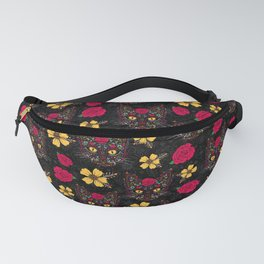 Day of the Dead Kitty Cat Sugar Skull Fanny Pack