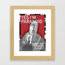 The Paranoid King Framed Art Print
