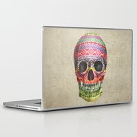 navajo Laptop & iPad Skins featuring Navajo Skull  by Terry Fan