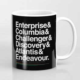Space Shuttle Helvetica - Infographic Variant Coffee Mug